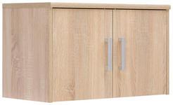 AUFSATZSCHRANK 72/43/36 cm Sonoma Eiche  - Silberfarben/Sonoma Eiche, Basics, Metall (72/43/36cm) - Xora