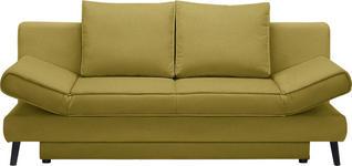 SCHLAFSOFA in Textil Gelb, Goldfarben  - Gelb/Goldfarben, Design, Textil/Metall (200/85/90cm) - Xora