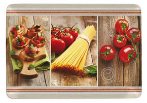 SERVERINGSBRICKA - röd/brun, Klassisk, plast (31,5/45cm) - Homeware