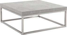 COUCHTISCH in Holzwerkstoff, Metall 80/80/33 cm - Edelstahlfarben/Grau, Design, Holzwerkstoff/Metall (80/80/33cm) - Xora