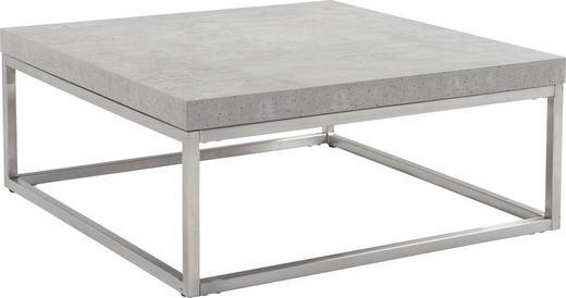 COUCHTISCH quadratisch Edelstahlfarben, Grau - Edelstahlfarben/Grau, Trend, Metall (80/80/33cm) - Carryhome