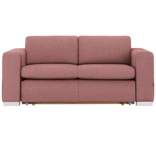 SCHLAFSOFA in Textil Rosa - Silberfarben/Rosa, KONVENTIONELL, Kunststoff/Textil (190/83/98cm) - Carryhome