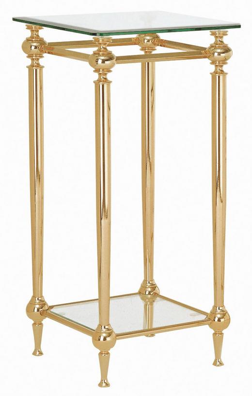 BEISTELLTISCH Goldfarben - Goldfarben, KONVENTIONELL, Glas/Metall (37/73/37cm)