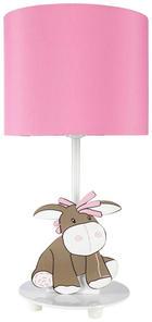 LED-BORDSLAMPA FÖR BARN - vit/rosa, Basics, metall/textil (15/31cm) - My Baby Lou