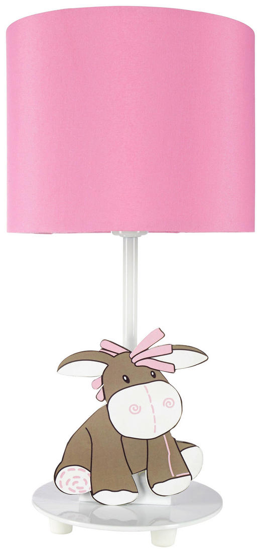 OTROŠKA NAMIZNA LED SVETILKA - roza/bela, Trendi, kovina/tekstil (15/31cm) - My Baby Lou