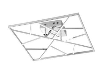 LED-TAKLAMPA - nickelfärgad, Design, metall (50/13/50cm)