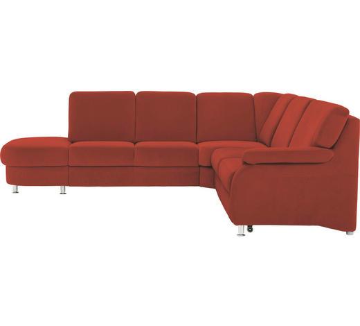 WOHNLANDSCHAFT Terra cotta  - Terra cotta/Alufarben, KONVENTIONELL, Textil/Metall (287/269cm) - Beldomo System