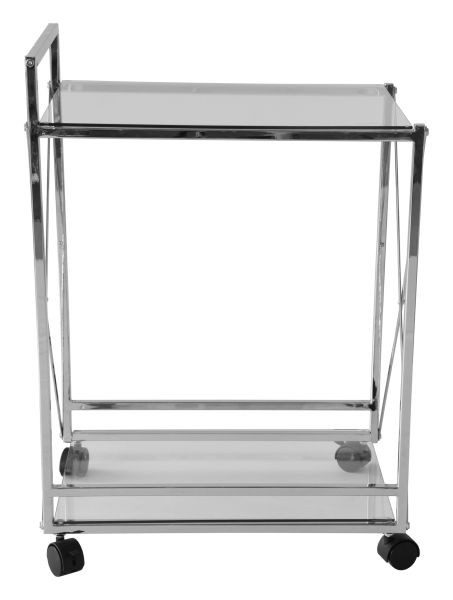 SERVERINGSVAGN - kromfärg/transparent, Design, metall/glas (40/58/81cm)