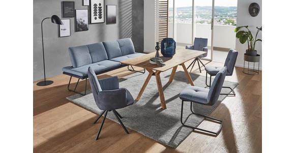 SCHWINGSTUHL Flachgewebe Blau, Schwarz  - Blau/Schwarz, Design, Textil/Metall (50/87/59cm) - Dieter Knoll