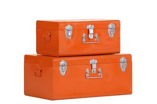TRUHENSET Metall - Orange, Design, Metall (56/44/26/21/36/28cm) - Carryhome