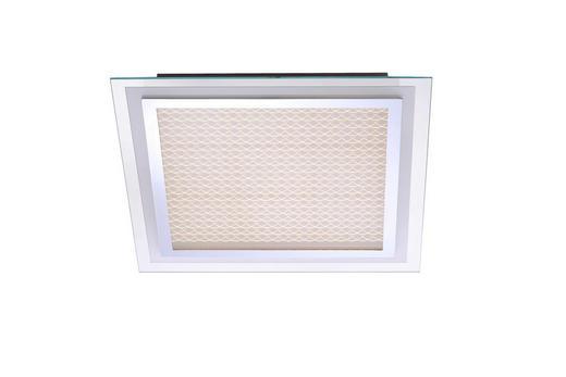 LED-DECKENLEUCHTE - LIFESTYLE, Glas/Metall (44,5/44,5/7,3cm)