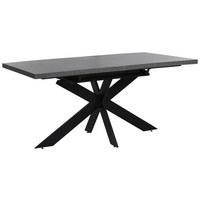 JEDILNA MIZA, siva, črna  - črna/siva, Design, kovina/leseni material (160-220/90/76cm) - Carryhome