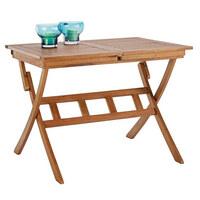 ZAHRADNÍ SKLÁPĚCÍ STOLEK - barvy teak, Lifestyle, dřevo (100(140)/70/74cm) - Ambia Garden