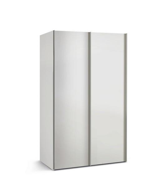 SCHRANK Weiß - Alufarben/Weiß, Basics, Holzwerkstoff/Metall (125/216/68cm)