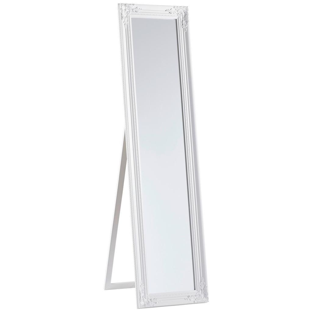 Carryhome Standspiegel eukalyptusholz weiß