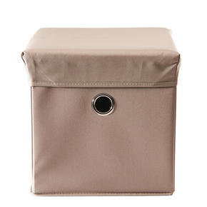LEKSAKSLÅDA - mullvadsfärgad/gråbrun, Trend, trä/textil (32/32/32cm) - My Baby Lou