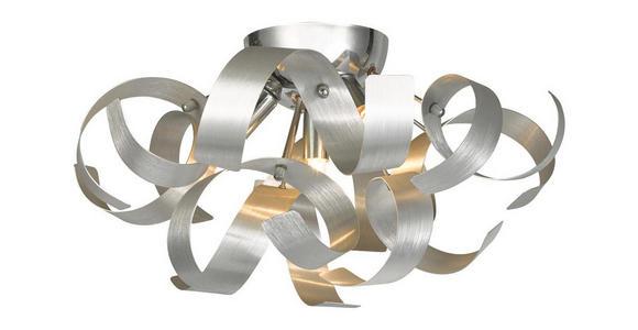 LED-DECKENLEUCHTE   - Chromfarben, Design, Metall (42/24cm) - Ambiente
