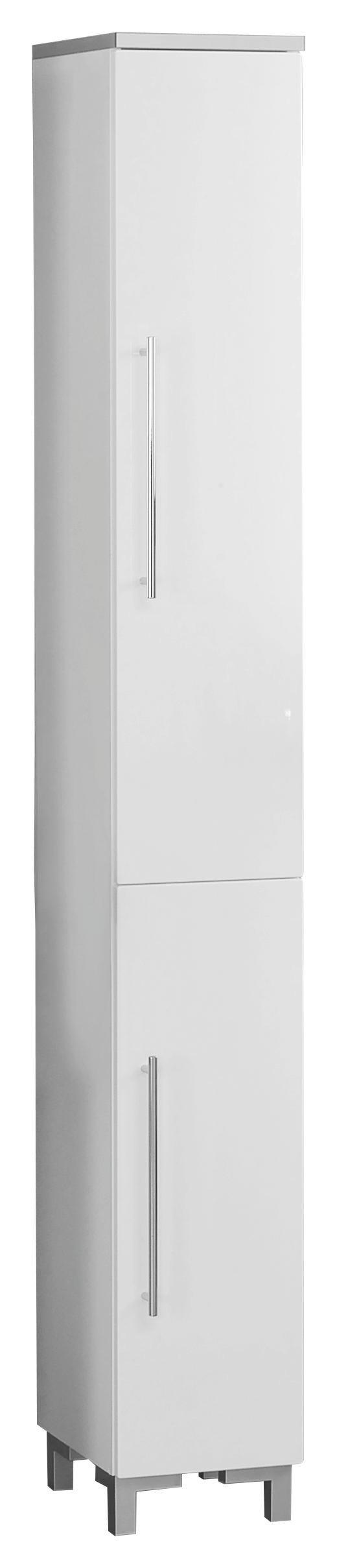 """HOCHSCHRANK XORA """"SAN REMO"""" Weiß - Chromfarben/Weiß, MODERN, Holzwerkstoff/Kunststoff (25/192,5/31,3cm) - XORA"""