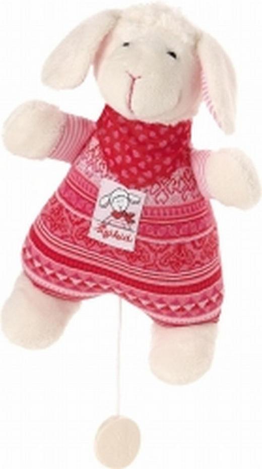 SPIELUHR - Creme/Rosa, Basics, Textil (23cm) - Sigikid