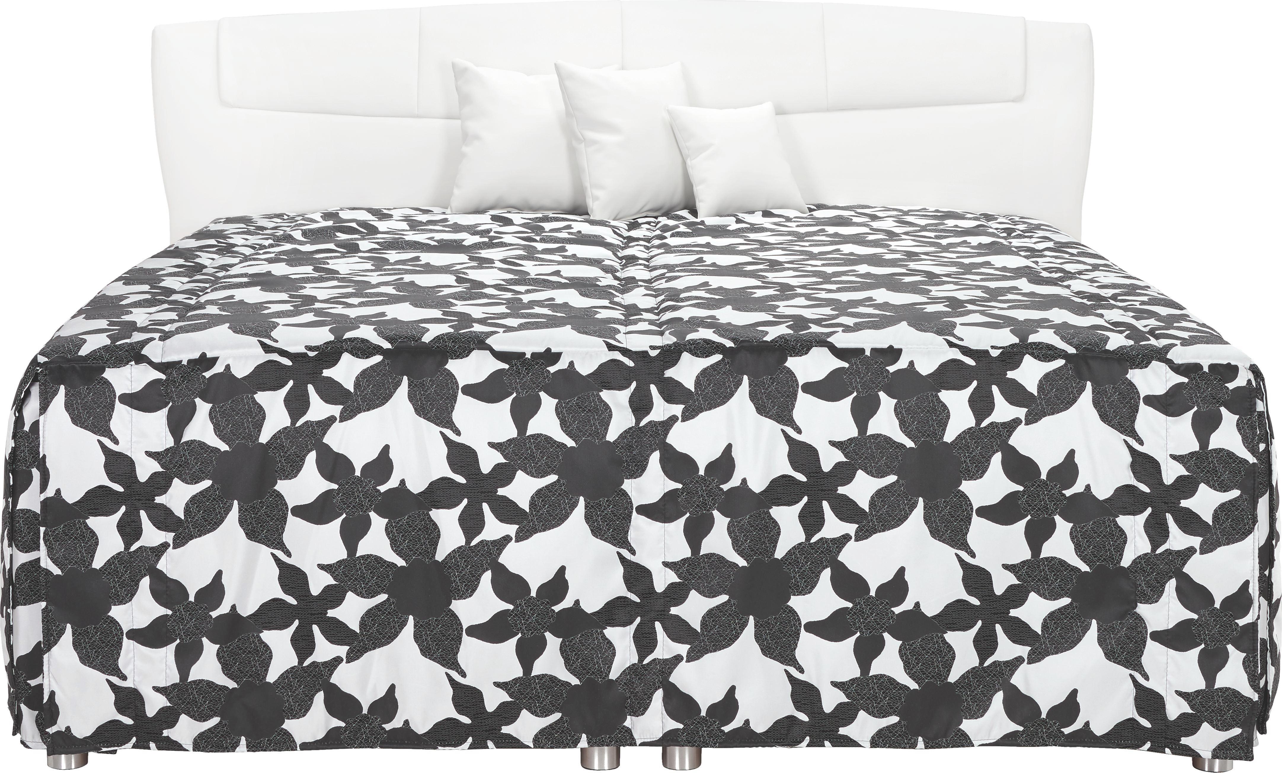 POLSTERBETT Lederlook 200/200 cm - Schwarz/Weiß, KONVENTIONELL, Textil (200/200cm) - ESPOSA