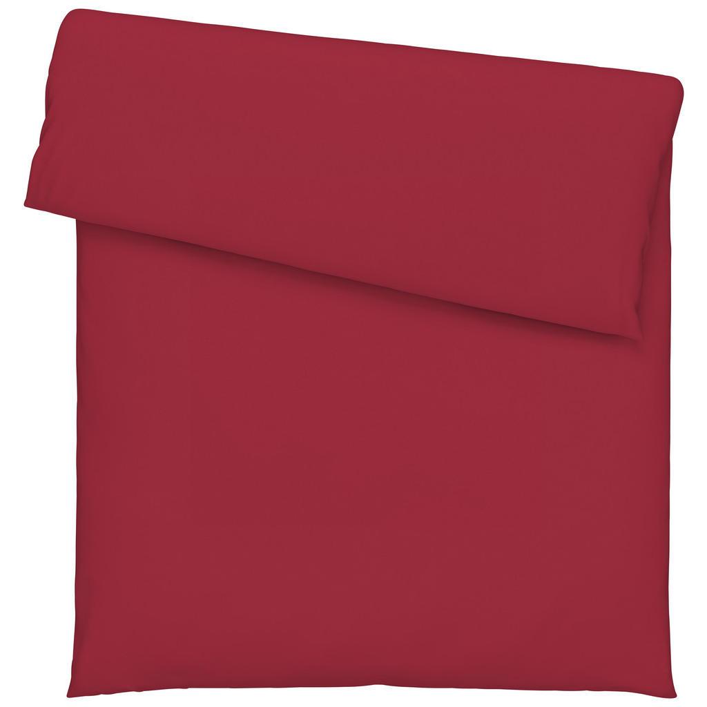 Image of Bio:Vio Duvetbezug 160/210 cm , Satin Gots Bettbezug , Bordeaux , Textil , Uni , 160 cm , Satin , atmungsaktiv, schadstoffgeprüft , 003917040701