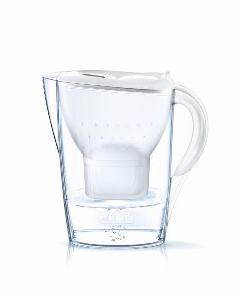 WASSERKARAFFE 2,4 l - Weiß, MODERN, Kunststoff (26,5/27,5/11cm)
