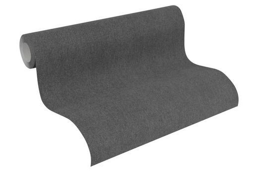VLIESTAPETE 10,05 m - Dunkelgrau/Schwarz, Design, Textil (53/1005cm)