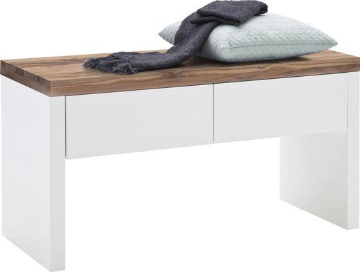 GARDEROBENBANK Weiß - Eichefarben/Weiß, Design, Holz/Holzwerkstoff (91/48/38cm)