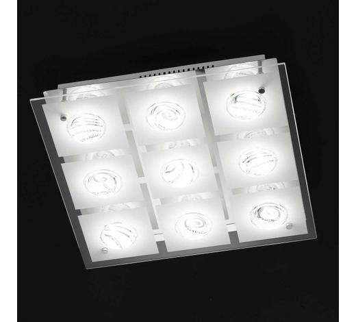 LED-DECKENLEUCHTE   - Chromfarben, Design, Glas/Metall (42/9/42cm)