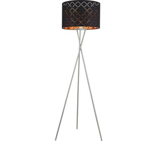 STOJACÍ LAMPA - černá/barvy zlata, Lifestyle, kov/textil (62/160cm)