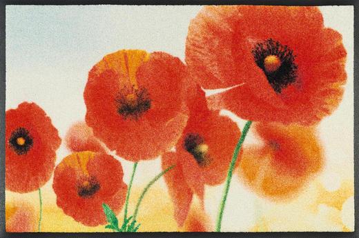 FUßMATTE 50/75 cm Blume Rot - Rot, Kunststoff/Textil (50/75cm) - Esposa