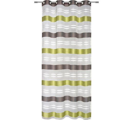 ÖSENSCHAL  halbtransparent   135/245 cm  - Schlammfarben/Hellgrün, Basics, Textil (135/245cm) - Esposa