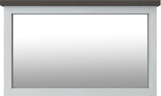 SPIEGEL Dunkelbraun, Weiß - Dunkelbraun/Weiß, Trend, Glas/Holz (124/75/5cm) - Landscape