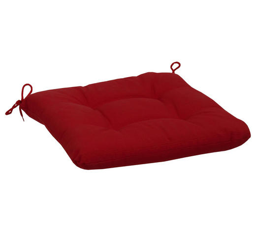 SITZKISSEN - Rot, KONVENTIONELL, Textil (38/5/38cm)