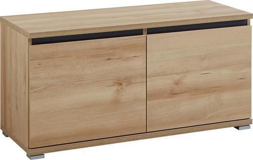 GARDEROBENBANK Anthrazit, Buchefarben - Anthrazit/Buchefarben, Basics, Holzwerkstoff (96/52/40cm) - Carryhome