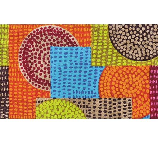 FUßMATTE 70/120 cm Abstraktes Multicolor  - Multicolor, Basics, Kunststoff/Textil (70/120cm) - Esposa