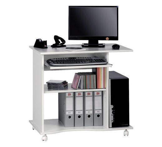 COMPUTERTISCH - Weiß, Design, Holzwerkstoff/Kunststoff (80/75/50cm)