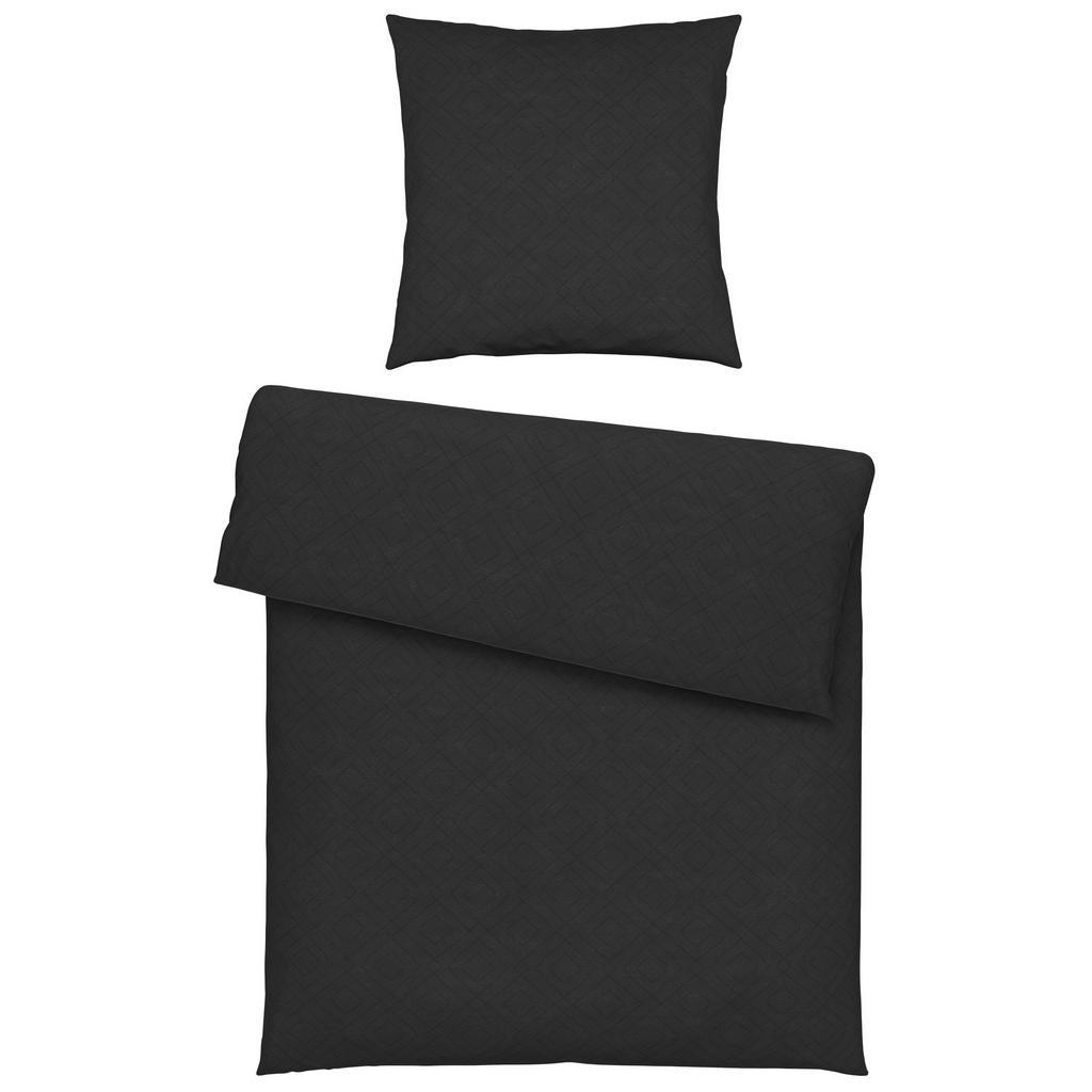 Ambiente Bettwäsche , Anthrazit , Textil , Uni , 135 cm , Textiles Vertrauen - Oeko-Tex® , Heimtextilien, Bettwäsche, Bettwäsche