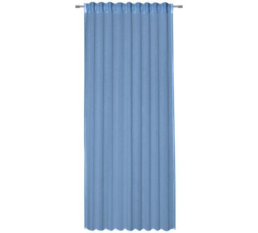 FERTIGVORHANG transparent - Hellblau, Basics, Textil (135/245cm) - Esposa