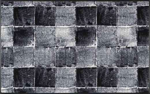FUßMATTE 75/120 cm Graphik Grau, Schwarz - Schwarz/Grau, Kunststoff/Textil (75/120cm) - Esposa