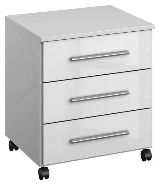 ROLLCONTAINER Weiß - Alufarben/Weiß, Design, Kunststoff/Metall (47/65/42cm) - Carryhome