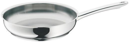 BRATPFANNE 24 cm - Edelstahlfarben, Basics, Metall (24cm) - WMF
