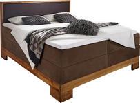 BOXSPRINGBETT - Braun, LIFESTYLE, Holz/Textil (180/200cm) - Linea Natura