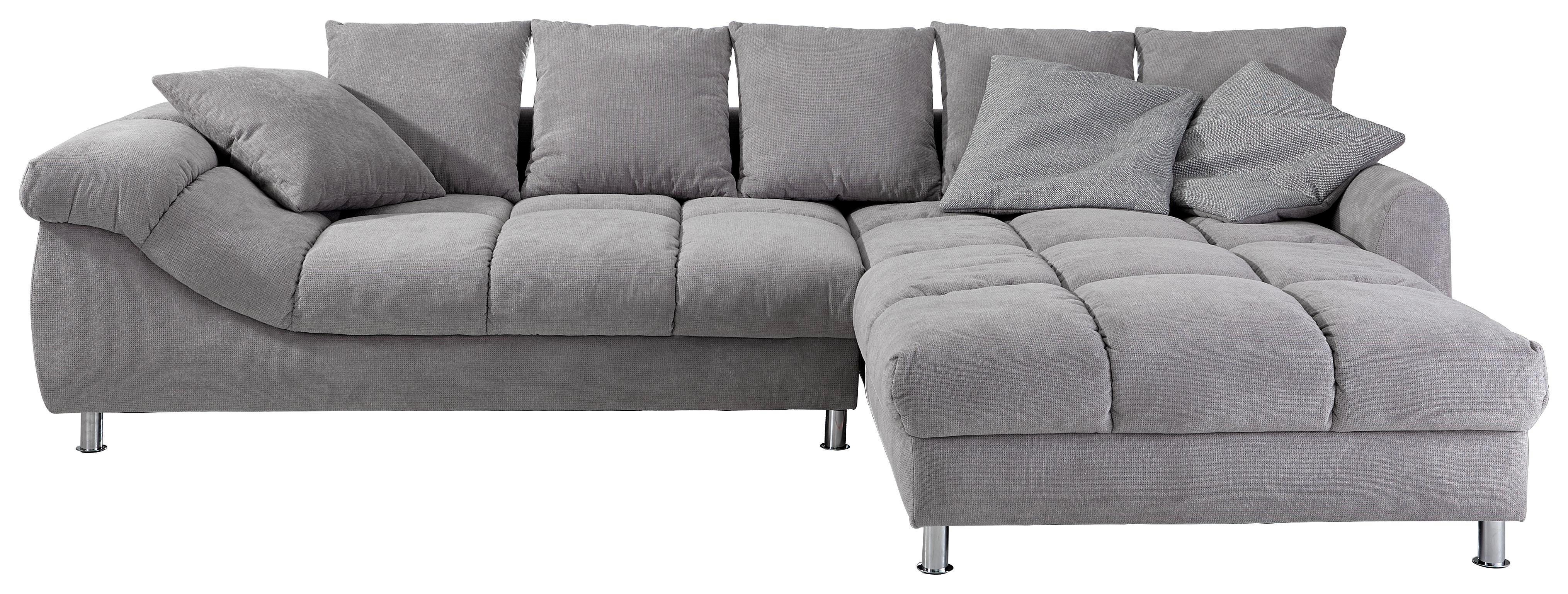 SEDEŽNA GARNITURA - barve kroma/siva, Design, kovina/tekstil (337/228cm) - HOM`IN