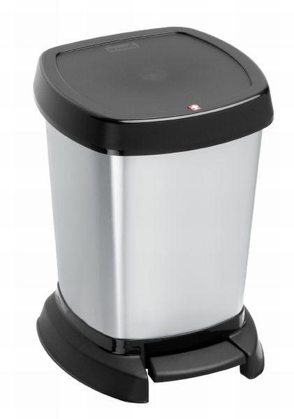 KOSMETIKEIMER 6 L - Silberfarben/Schwarz, Basics, Kunststoff (23,4/21,9/29,5cm)