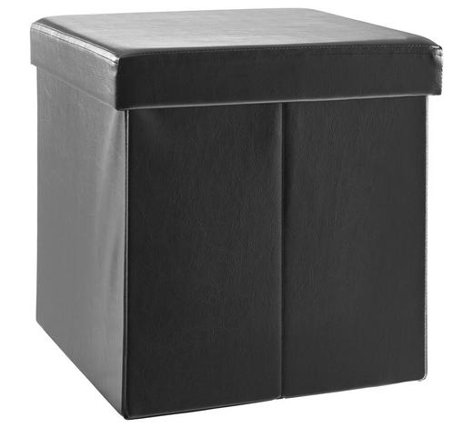 SITZBOX in Textil, Holzwerkstoff  - Schwarz, Basics, Holzwerkstoff/Textil (38/38/38cm) - Carryhome