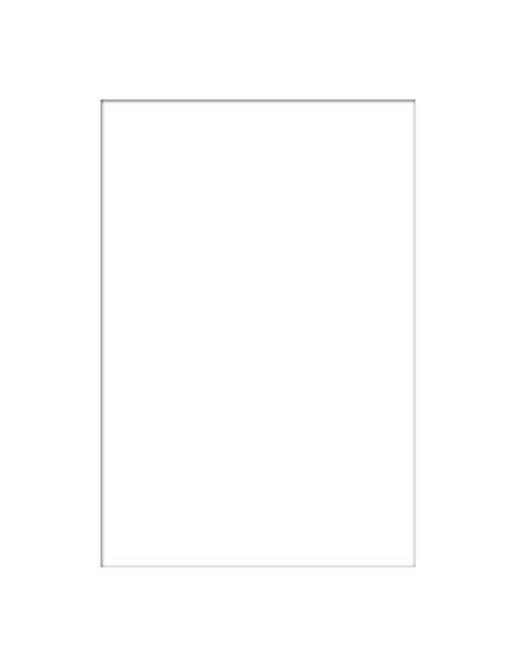 PASSEPARTOUT in Weiß - Weiß, KONVENTIONELL, Papier (21/30/0.3cm)