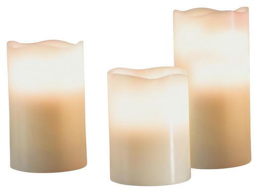 Kerze Mit Led - Weiß, Basics - Ambia Home