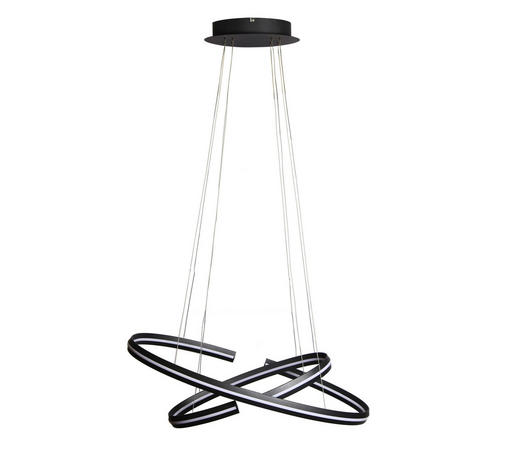 LED-HÄNGELEUCHTE - Schwarz, Design, Kunststoff/Metall (80/40/120cm) - Ambiente