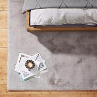 HOCHFLORTEPPICH  70/130 cm   Silberfarben   - Silberfarben, Design, Textil (70/130cm) - Novel